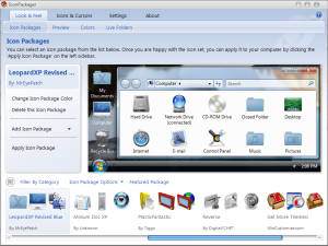 The main screen on Icon packager.
