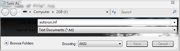 how to make usb autorun file on w8